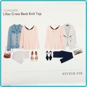 Stitchfix loveappella lillac crossback Top S